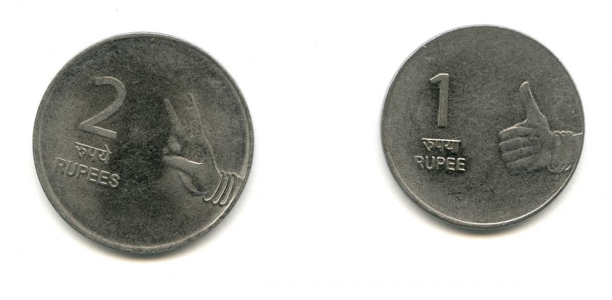 Bilderesultat for rupee coins hands