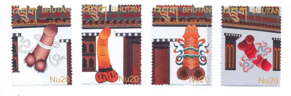 According To Tashi Wangchuck Bhutans Sole Stamp Designer This 2013 Series Featuring Traditional Phallic Symbols Considered Effective In Warding